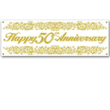 Picture of 50th ANNIVERSARY SIGN BANNER