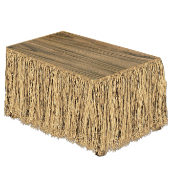 Picture of RAFFIA TABLE SKIRT - NATURAL