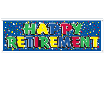 Picture of DECOR - RETIREMENT SIGN BANNER