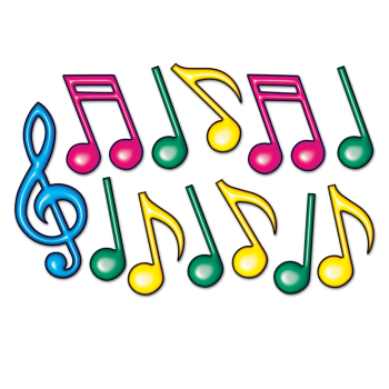 Picture of 50'S - NEON MUSIC NOTE SILHOUETTES