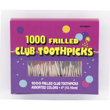 Image de FRILLED CLUB TOOTHPICKS BOX
