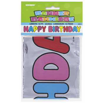 Picture of DECOR - HAPPY BIRTHDAY FOIL BANNER - 12'