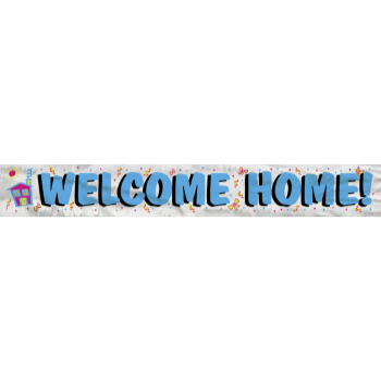 Picture of FOIL WELCOME HOME BANNER 12 FT.