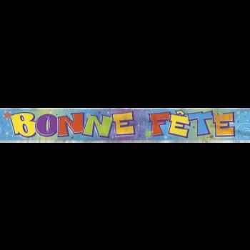 Picture of BONNE FÊTE - BANNIÈRE MÉTALLIQUE - 12'