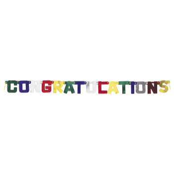 Picture of CONGRATULATIONS BANNER  - MULTI UNIQUE