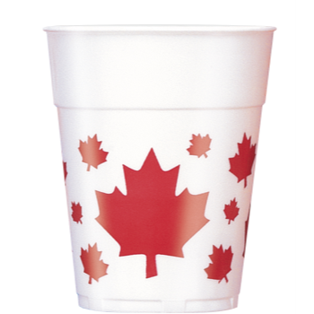 Image de CANADA DAY WAVING FLAG 16oz PLS CUPS
