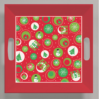 Image de TABLEWARE - PLATTER SQUARE CHRISTMAS