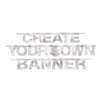 Picture of CREATE YOUR OWN BANNER SILVER