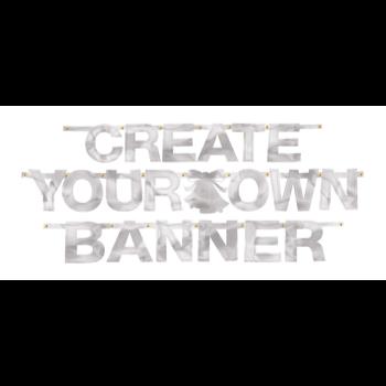 Image de CREATE YOUR OWN BANNER SILVER