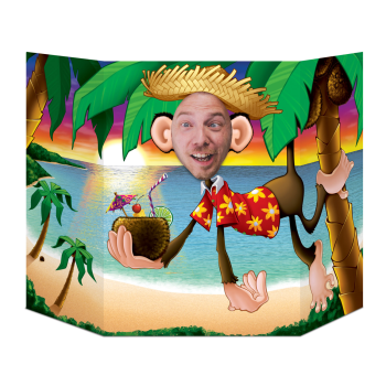 Picture of LUAU MONKEY PHOTO PROP