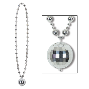 Picture of 70'S DISCO BALL BEADS WITH MEDALLION - 36''