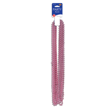 Picture of PINK PARTY BEADS 12/PKG