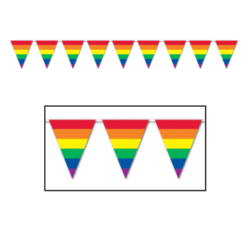 Picture of RAINBOW PENNANT BANNER