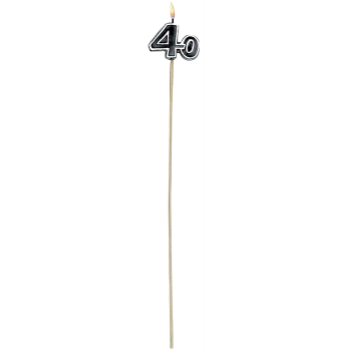 Picture of 40th - BIRTHDAY CANDLE ON A STICK