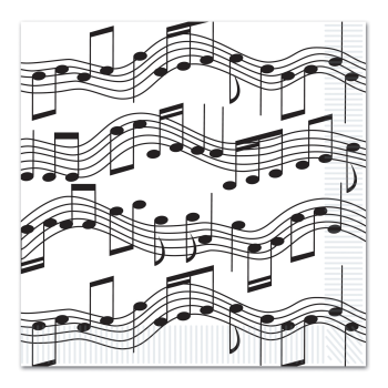 Picture of 50'S - MUSICAL NOTES LUNCHEON NAPKINS