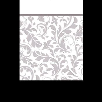 Image de SILVER ELEGANT SCROLL PAPER TABLE COVER