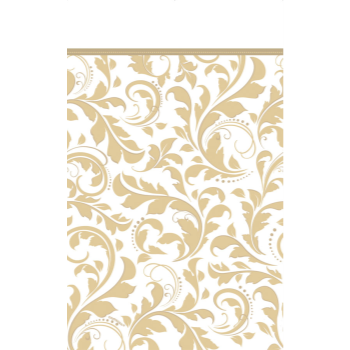Picture of GOLD ELEGANT SCROLL PAPER TABLE COVER