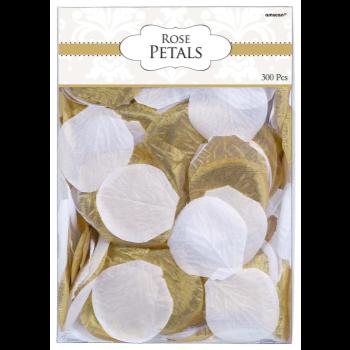 Picture of FABRIC CONFETTI PETALS - GOLD/WHITE
