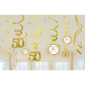 Picture of 50th ANNIVERSARY SWIRLS - GOLD