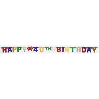 Picture of 40th - JOINTED HAPPY BIRTHDAY BANNER