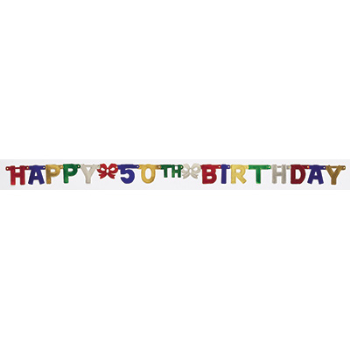 Image de 50th - BIRTHDAY JOINTED BANNER
