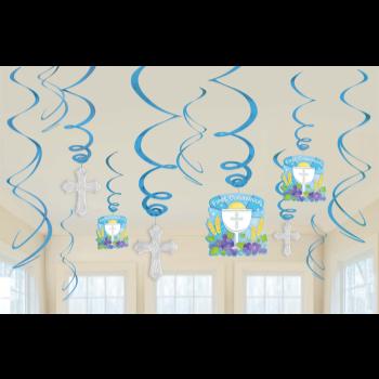 Image de DECOR - COMMUNION BLUE SWIRLS