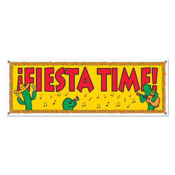 Picture of FIESTA TIME SIGN BANNER - 5' X 21""