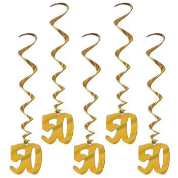 Picture of 50th ANNIVERSARY WHIRLS - GOLD