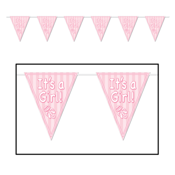Picture of IT'S A GIRL PENNANT BANNER