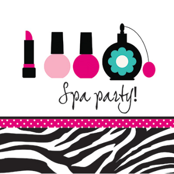 Picture of TABLEWARE - PINK ZEBRA BOUTIQUE - SPA PARTY LUNCHEON NAPKINS