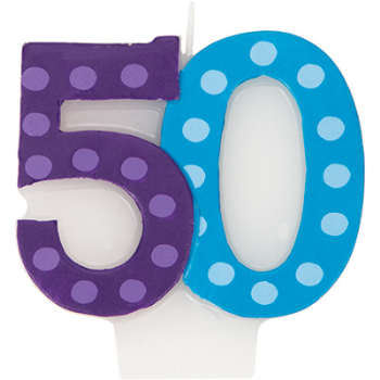 Picture of 50th -  NUMERAL CANDLE