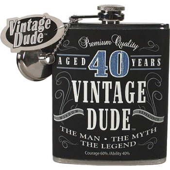 Picture of 40th - MILESTONE FLASK - 40 VINTAGE DUDE