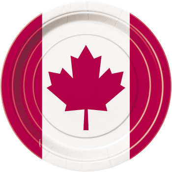 "Picture of CANADA DAY LEAF 7"" PLATE"