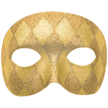 Picture of GOLD GLITTER MASK