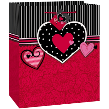 Image de DECOR - GIFT - PARISIAN HEARTS MEDIUM BAG