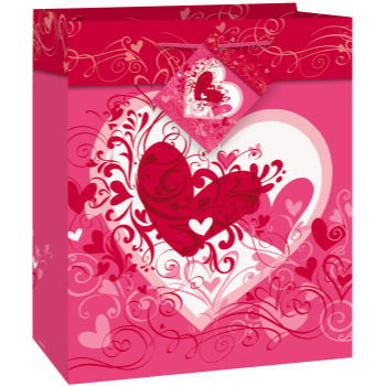 Picture of DECOR - GIFT - TANGLED HEARTS SMALL BAG