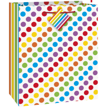 Picture of RAINBOW BDAY - MED GIFT BAG