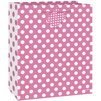 Picture of HOT PINK DOTS - MED GIFT BAG