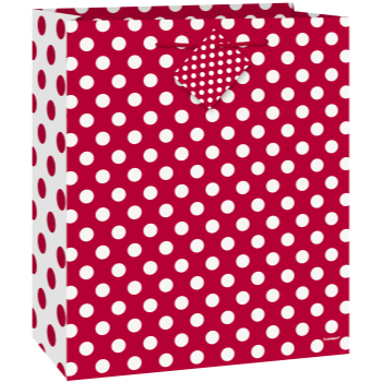 Picture of RED DOTS - MED GIFT BAG