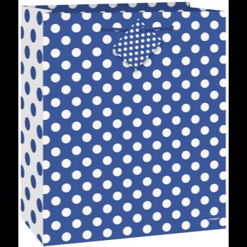 Image de ROYAL BLUE DOTS - MED GIFT BAG