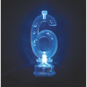 Image de FLASHING NUMERAL CANDLE HOLDER - 6