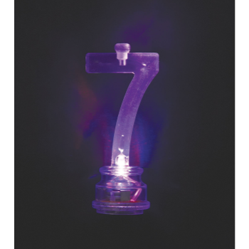 Image de FLASHING NUMERAL CANDLE HOLDER - 7