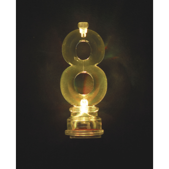 Image de FLASHING NUMERAL CANDLE HOLDER - 8
