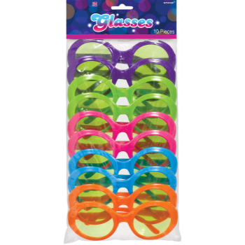 Image de 70'S COLORED GLASSES - 10/PKG