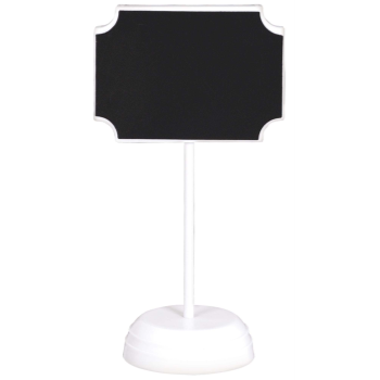 Image de CHALKBOARD SIGNS ON WHITE STAND - 4CT