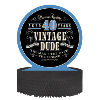 Picture of 40th VINTAGE DUDE CENTERPIECE