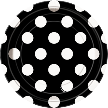 "Picture of BLACK DOTS 7"" PLATES"