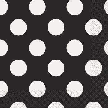 Image de BLACK DOTS LUNCHEON NAPKIN