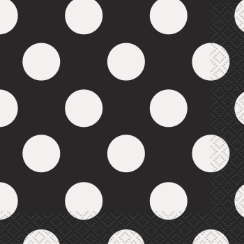 Image de BLACK DOTS BEVERAGE NAPKIN