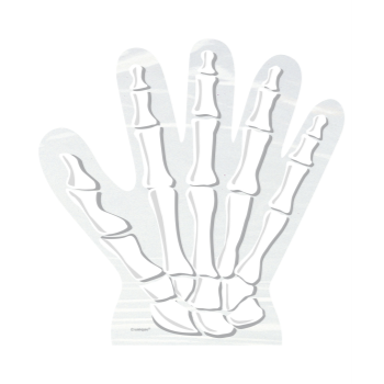 Picture of SKELETON HANDS SHAPED CELLO BAGS - 10PK